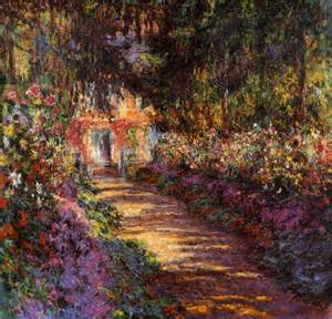 garden path at giverny 1902 by claude monet