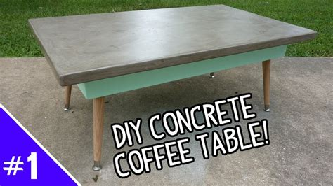 Pine Side Table Diy Ardex Concrete Coffee Table Part 1 Of 2 Youtube