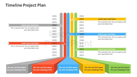 plan on a page template powerpoint timeline project plan powerpoint template