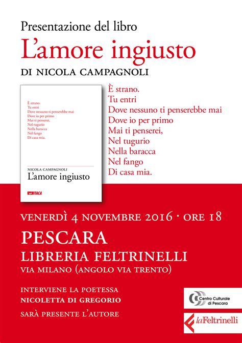 libreria feltrinelli ancona quot l ingiusto quot nicola cagnoli alla libreria