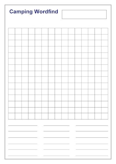 templates for word search puzzles cing wordfind template teacher timesavers templates