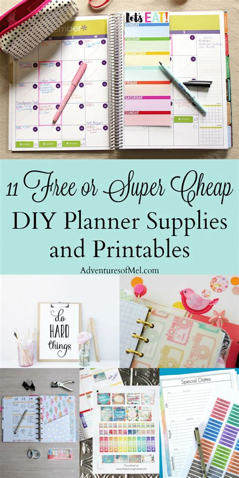 free printable planner supplies 11 free or super cheap diy planner supplies and printables