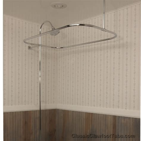 showers for clawfoot bathtub clawfoot tub rectangle shower enclosure with riser