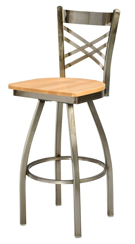 Metal Counter Height Chairs by Regal Seating Series 3515 X Back Commercial Swivel Metal