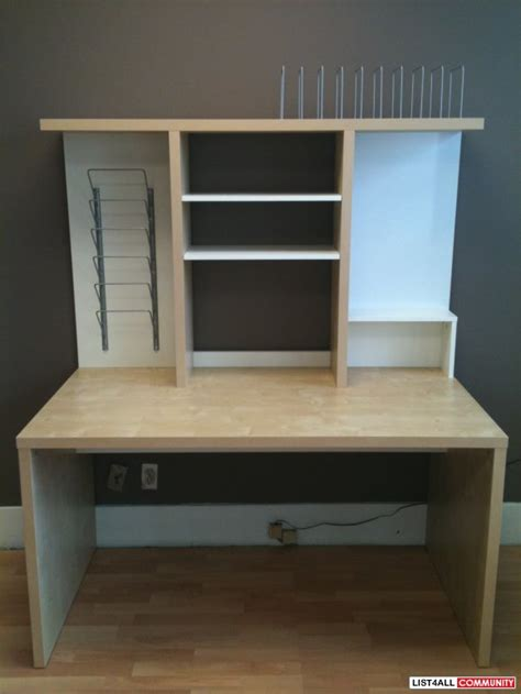 Mikael Desk by Mikael Desk With Shelf Unit Reg 170 Gt 50