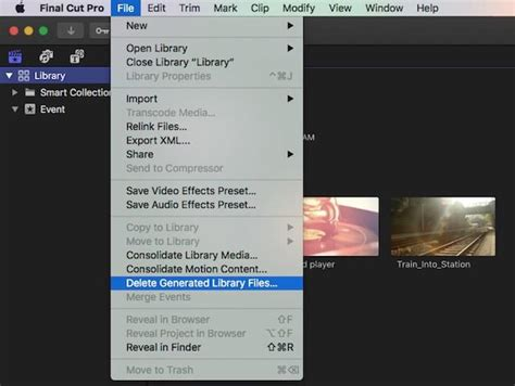 final cut pro render files delete fcpx render files to recover hard drive space