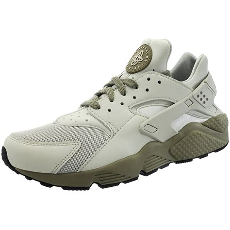 Nike Mid Sneakers Casual nike air huarache s mid cut sneakers beige green