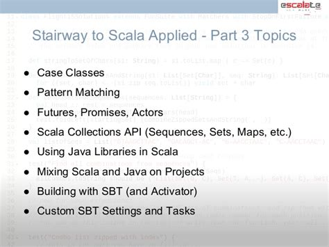 scala pattern matching empty seq stairway to scala flyer