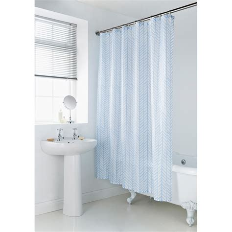 b and m shower curtain geo shower curtain blue chevron bathroom accessories b m