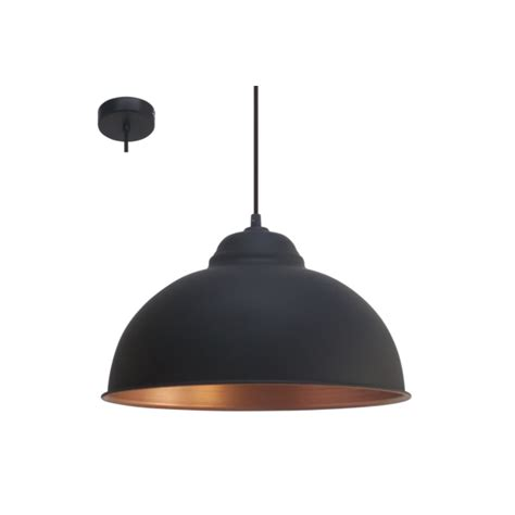Black Pendant Ceiling Light Eglo 49247 Truro2 1 Light Ceiling Pendant Black Copper