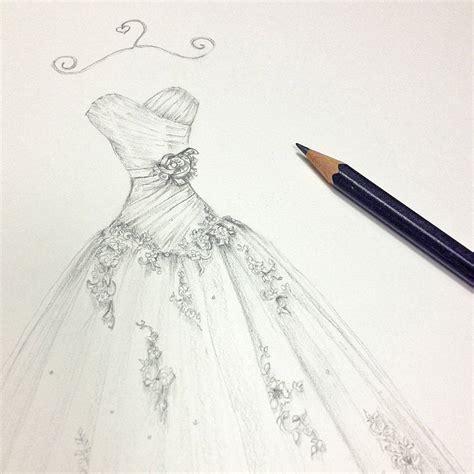 pencil wedding dress portrait by appleberry press