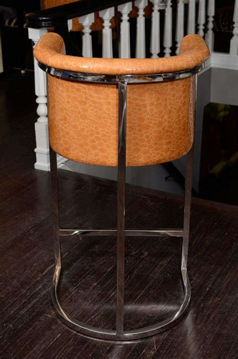 Handmade Bar Stools - set of three custom bar stools at 1stdibs
