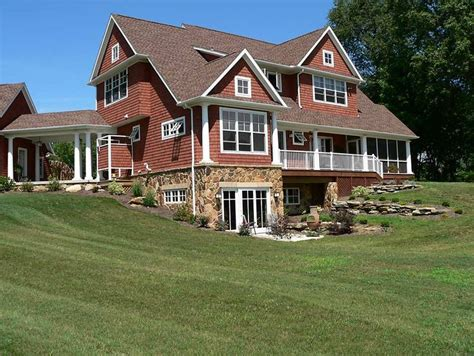 house plans with finished walkout basements the walk out basement hill set up country cottage basements and country chic