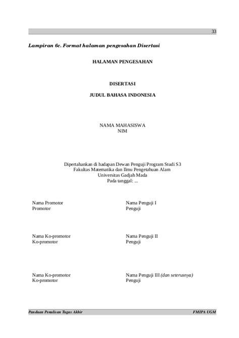 format skripsi fmipa ugm 179663989 format penulisan ta ugm