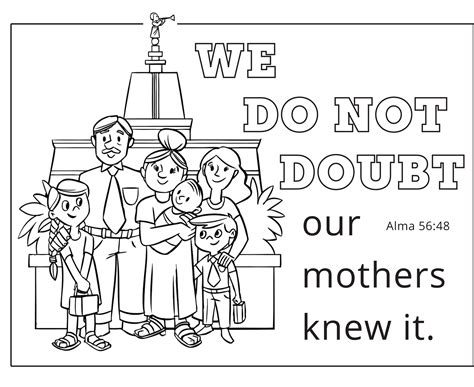 lds coloring pages mothers day mother s day printable the mormon home