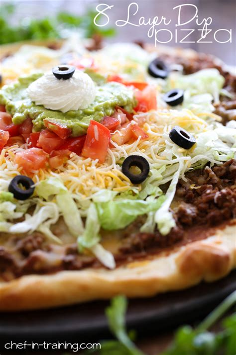 8 Delicious Recipes For Dips by 8 Layer Dip Pizza Chef In