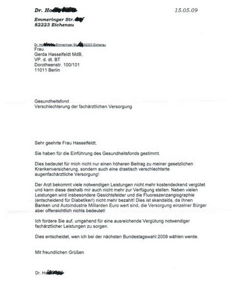 Eine Beschwerde Brief Schreiben Dreister Facharzt L 228 Sst Beschwerdebriefe Patienten An Bundestag Schreiben Eichenau