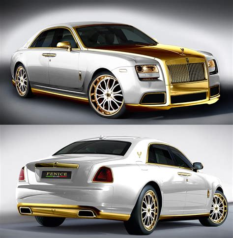 rolls royce gold and white the fenice rolls royce ghost is bold even for a baller