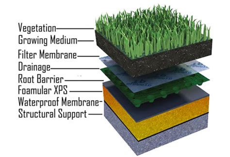 green roof section green roof insulation foamular