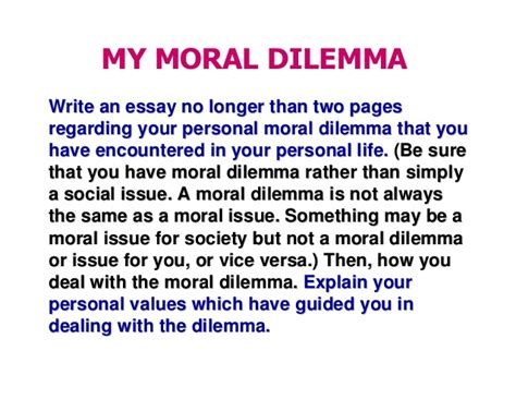 Moral Dilemma Essay by C1 Moral Ethics Ethical Dilemma