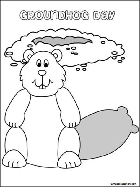 preschool coloring pages for groundhog day 152 best images about teacher february on pinterest