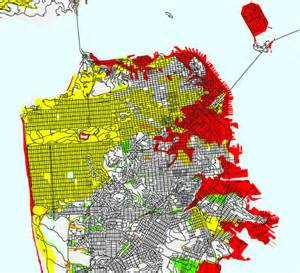 san francisco landfill map what parts of san francisco are built on land fill