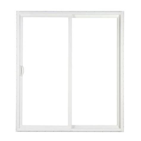 Simonton 2 Panel White Contemporary Vinyl Sliding Patio Home Depot Sliding Glass Patio Doors