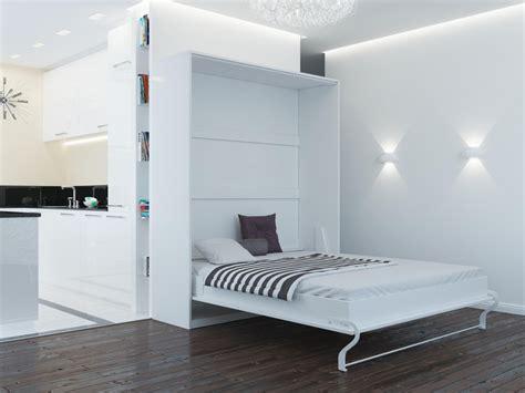 schrank und bett schrankbett 160cm vertikal weiss smartbett klappbett