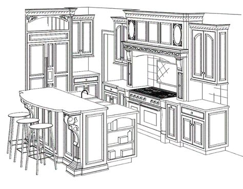 kitchen design drawings and interior design photos by joan exles of layouts of commercial kitchen afreakatheart