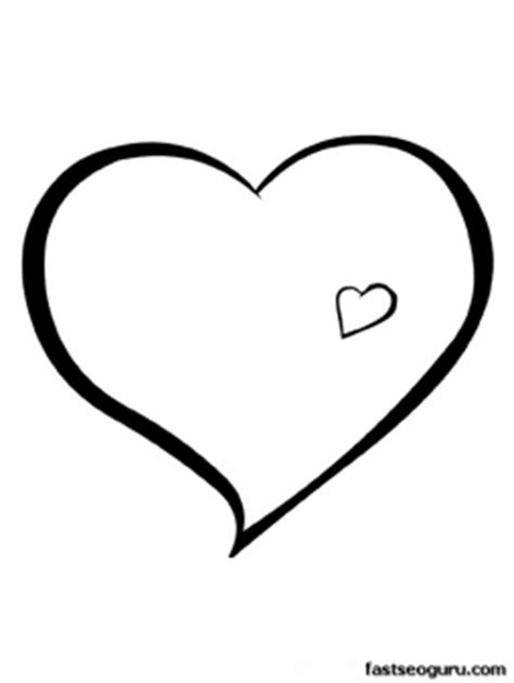 print out valentines day hearts coloring pages printable