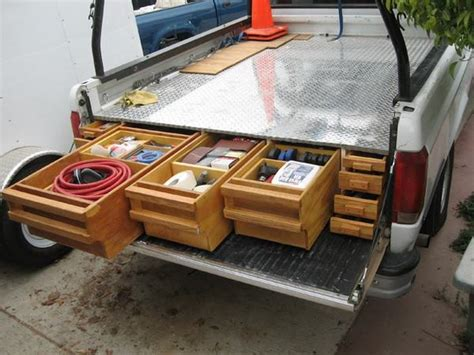 truck bed organizer diy how to install a sliding truck bed drawer system diy