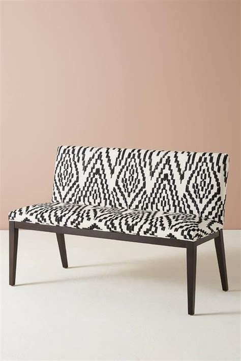 black and white bench maura printed emrys black white bench