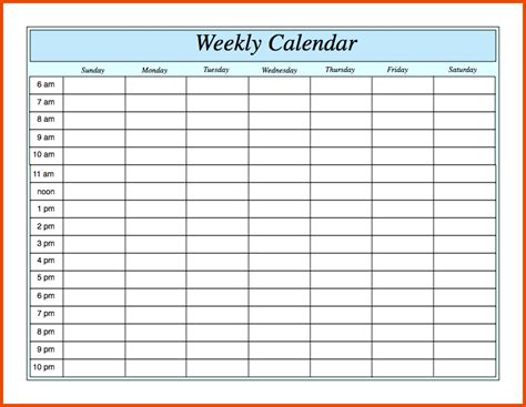 printable weekly schedule pdf weekly timetable calendar template 2016