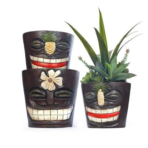 you can t help but smile at these tiki planters bring the