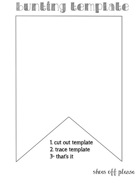 bunting template to print 25 best ideas about bunting template on