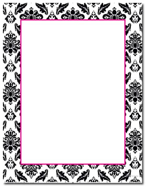 6 Best Images Of Printable Damask Borders For Invitations | free damask border www imgkid com the image kid has it