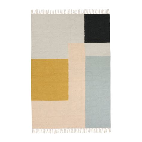 teppich gross kelim rug squares by ferm living in the shop