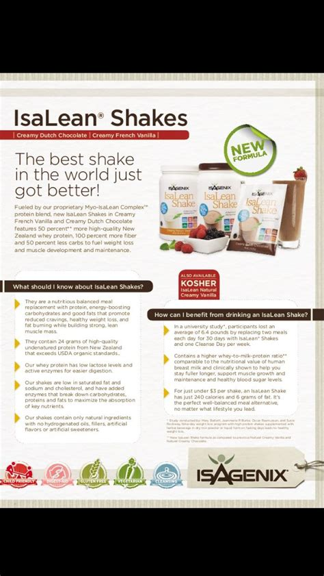Detox Meal Replacement Shakes by 476 Best Images About My Isagenix Journey On