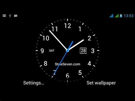 wallpaper untuk google analog clock live wallpaper 7 android apps on google play