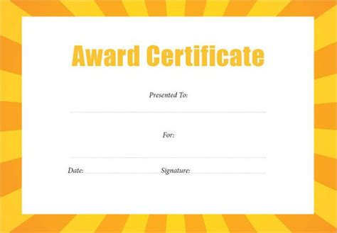 8 best images of free editable award certificate templates