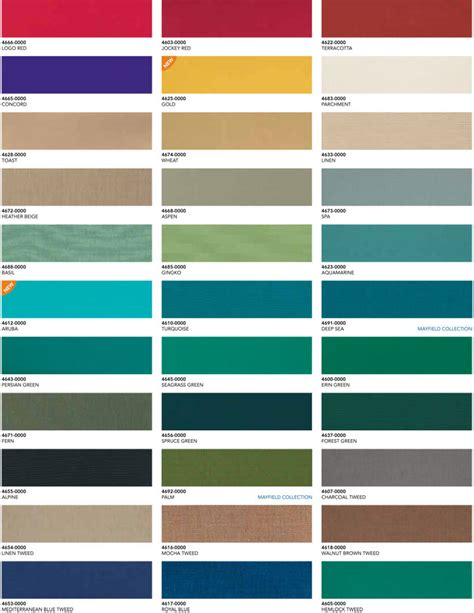 awning colours awning colors