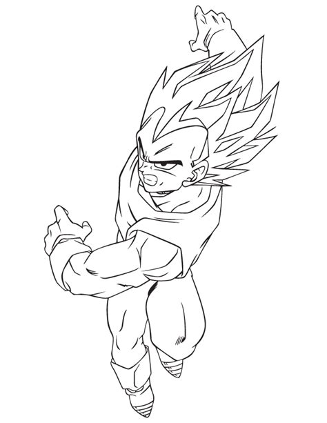 dragon ball character coloring page h m coloring pages dragon ball z vegeta for boys coloring page h m