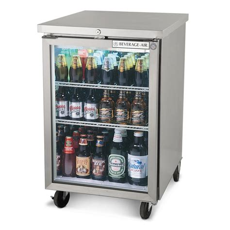 Bar With Refrigerator by Beverage Air Bb24g 1 S 24 Quot Stainless Steel Back Bar