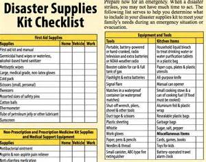 emergency response checklist template disaster preparedness for seniors the checklist