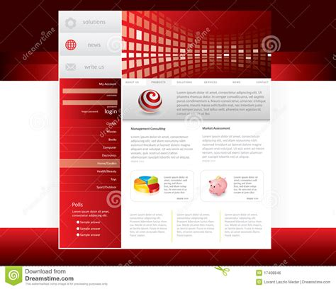 royalty free website templates website template royalty free stock image image 17408846