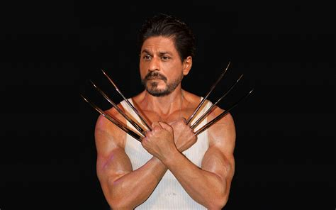 indian actor wolverine shah rukh khan as wolverine huge jackman takessharukh s