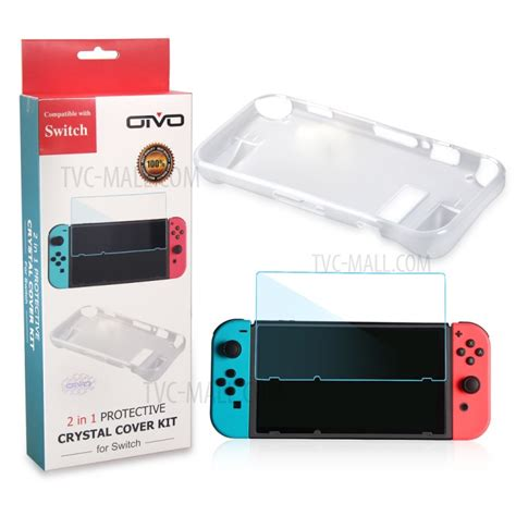 oivo for nintendo switch 2 in 1 tpu tempered glass screen protector kit