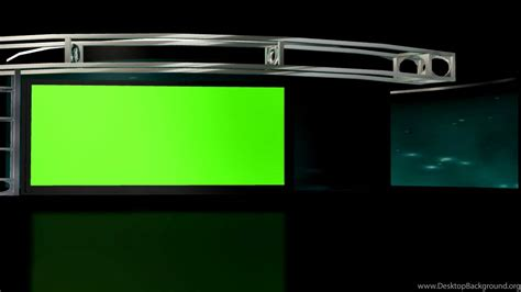 Free Hd Virtual Studio Set 2 Backgrounds Loop With Green Screen Tv Desktop Background Green Screen Templates