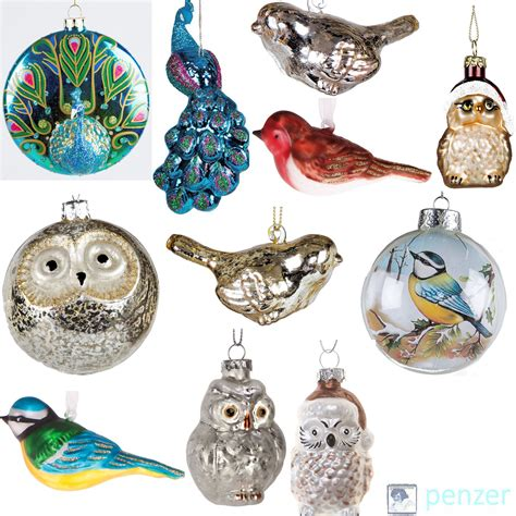 bird tree ornaments luxury glass birds tree hanging decorations