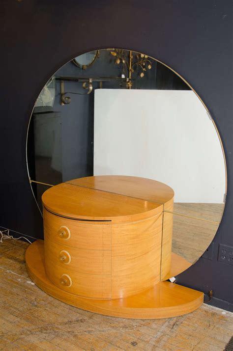 art deco dresser round mirror art deco vanity or dressing table with large round mirror